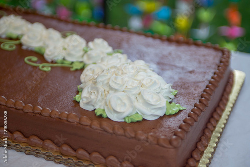 Fotografie, Obraz  Single Layer Wedding Cake