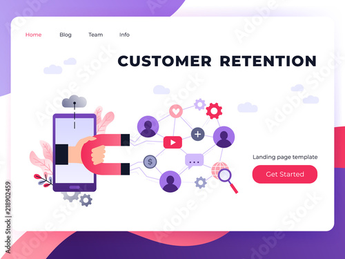 social media ultra violet landing page template with magnet engaging