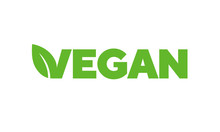 Vegan Badges, Vector Illustration. Nutrition Icon Or Logo. Ready To Be Used As An Icon Or Label On Package, Box Or Bag.