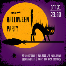 A Halloween Party Square Banne...