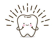 Cute Little Tooth Isolated On ...
