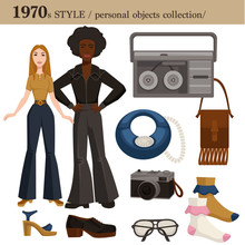 1970 Fashion Style Man And Wom...