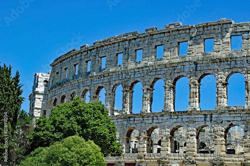 Foto op Aluminium Rudnes Colosseum at Pula - Istria