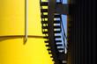 canvas print picture - Industrietank mit Treppe