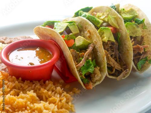 Fotografie, Obraz  Mexican Tacos with Avocado