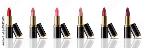 Fotografiet  Lipstick set Vector realistic