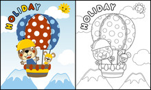 Coloring Book Vector With Anim...