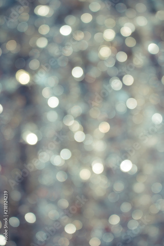 Fototapety, obrazy: Abstract Glitter Defocused Background with Blinking lights blurred Bokeh