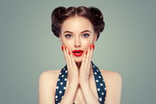 Pinup Woman Beauty Portrait Vi...