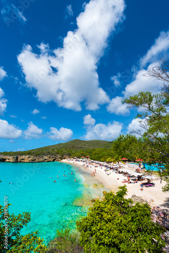 Foto Paradise beach Grote Knip on tropical caribbean island, Curacao, Netherlands