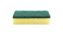 Yellow Sponge Isolated On Whit...