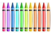 Pastelate Pencils Isolated Vec...