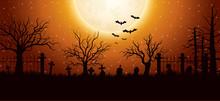 Halloween Background With Grav...
