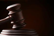 Judge Gavel On Dark Background