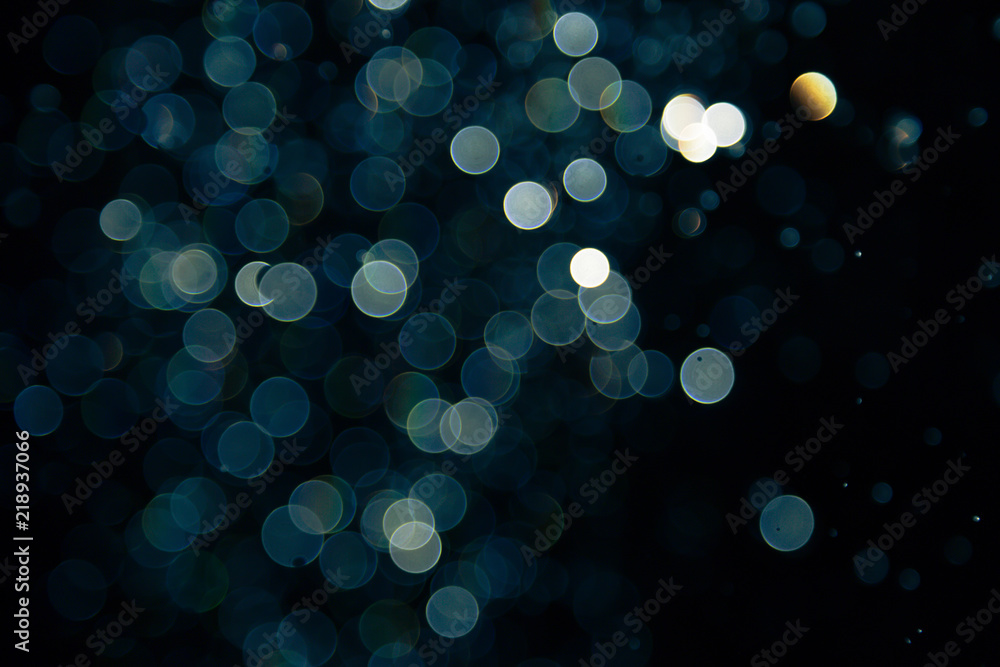 Fototapety, obrazy: bokeh of lights on black