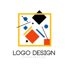 Suprematism Logo Design, Abstr...