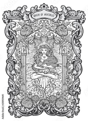 Obraz na płótnie Queen of pentacles