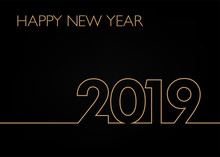 Happy New Year 2019 Linie