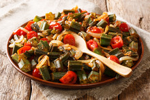 Serve Organic Okra With Tomato...