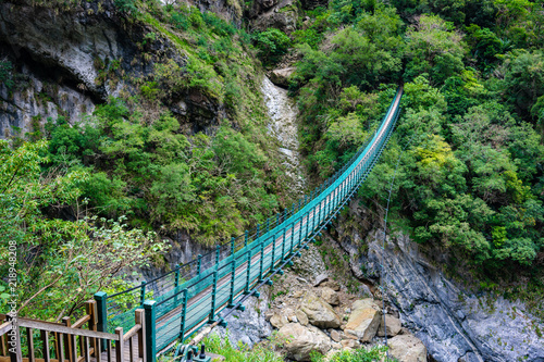 Valokuva Long footbridge which start the Zhuilu old hiking trail in Taroko gorge national