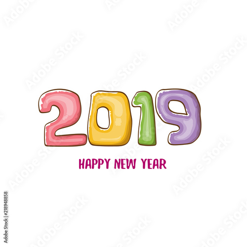 2019 Happy New Year poster design template. Vector happy new year ...