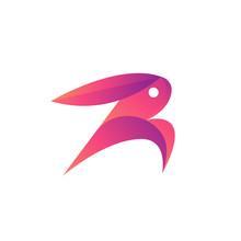 Rabbit Letter R Logo