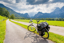 Touring Bicycle In Austria