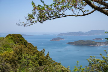 Fototapeta na wymiar Landscape of the Seto Inland Sea,Yashima,Takamatsu,Kagawa,Shikoku,Japan