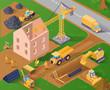 Isometric Construction Illustration