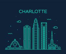 Charlotte City Skyline, North ...