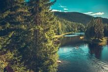 Kayaker On The Norwegian River