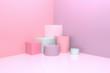 Pastel geometric objects