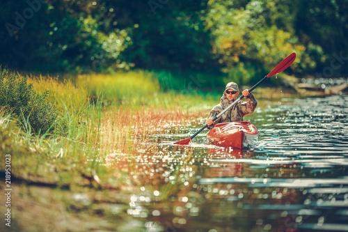 Obraz na plátne Scenic River Kayaking