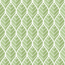 Vector Green Leaves Seamless Pattern. Abstract Grid Background. Geometric Texture.