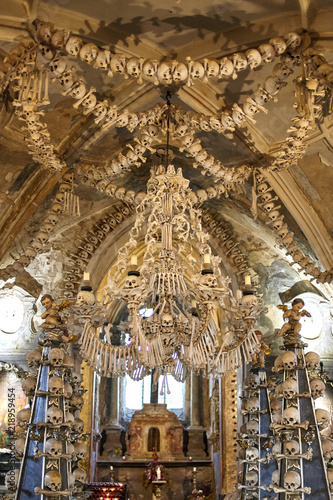 Photo  The church of bones in Sedlec Ossuary (Kuta Hora - Czech Republic)