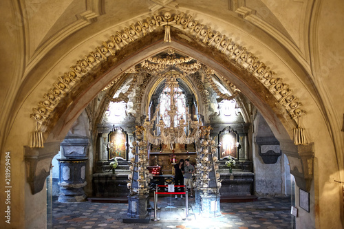 Photo  The church of bones in Sedlec Ossuary (Kuta Hora - Czech Republic)