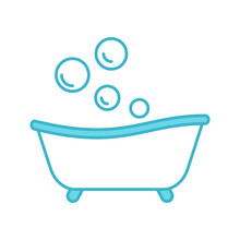Baby Bathtub Color Icon