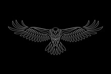 Engraving Of Stylized Hawk On ...
