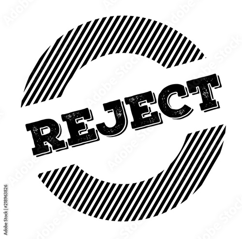 Fényképezés  reject black stamp