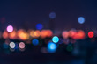 abstract cityscape light bokeh background