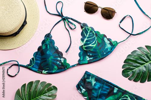 Fotografie, Obraz  Tropical bikini swimsuit, beach fashion