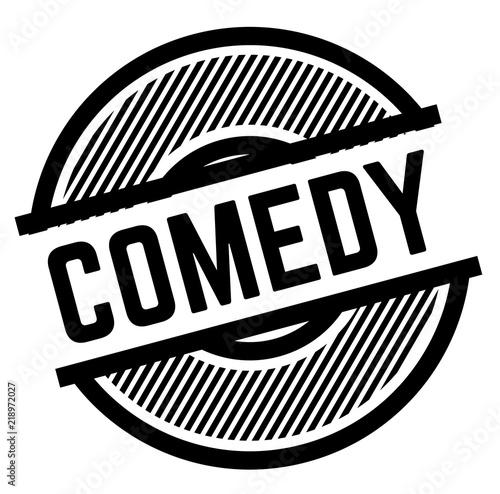 Fotografia, Obraz  comedy black stamp
