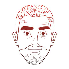 Man afro face with beard pop art cartoon vector illustration graphic design