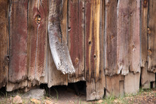 Warn Wood On A Building In The Ghost Town Of Bodie Located In California's Eastern Sierra Mountains