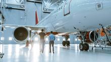 In A Hangar Aircraft Maintenan...