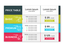 Price Table For Websites And A...