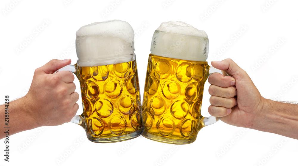Fototapeta Maßkrug mit Bier auf dem Oktoberfest in München