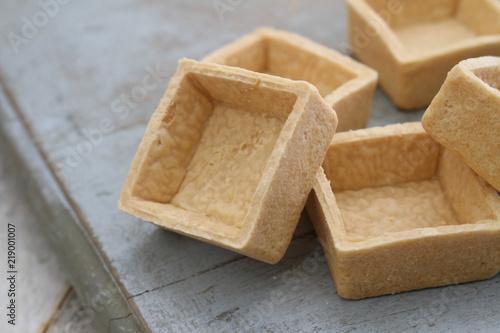 Fototapeta empty pastry cases