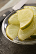 preparing fresh limes