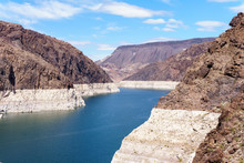 Scenic View Of The Hoover Dam Lake In Nevada